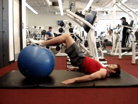 Supine lying Leg curls exercise