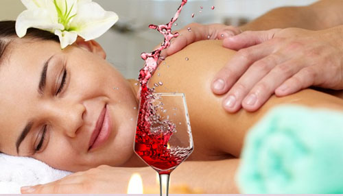 Red Wine for Massaging
