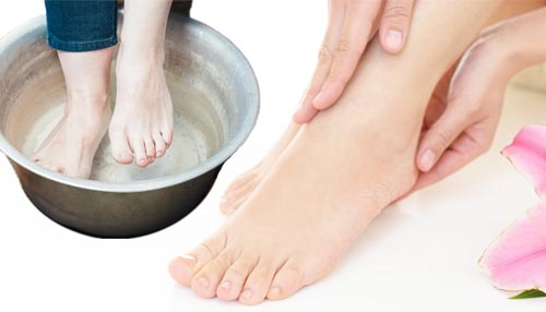 Soak your feet in clean water daily