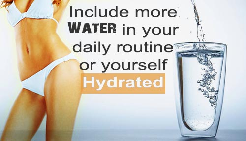 Include more water in your daily routine or yourself hydrated