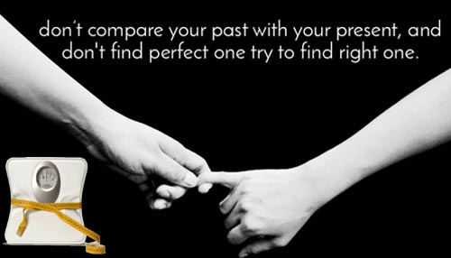 Never compare your present with past